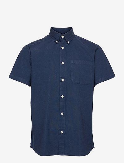 SLHREGRICK-OX FLEX SHIRT SS S - chemises à carreaux - moonlit ocean