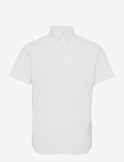 SLHREGRICK-OX FLEX SHIRT SS S - checkered shirts - white