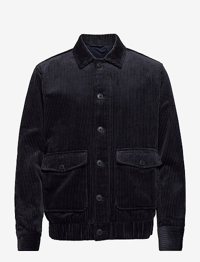 SLHTHOMAS CORD JKT - jeansjackor - dark navy