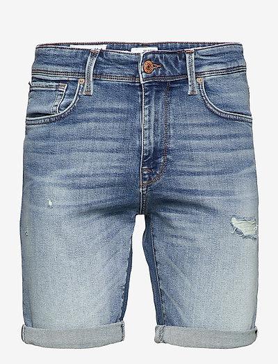 SLHALEX 672 M. BLUE SU-ST DENIM SHORTS U - jeansowe szorty - medium blue denim