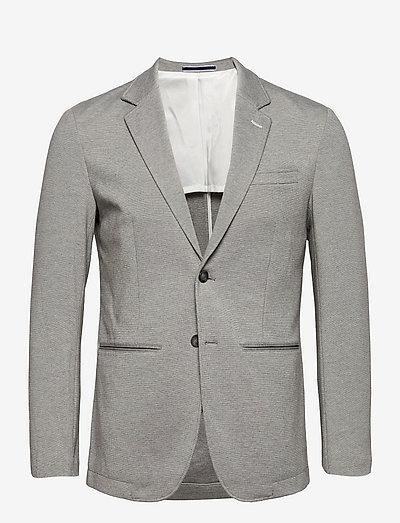 SLHSLIM-RAFFLZ - blazers à boutonnage simple - light grey melange