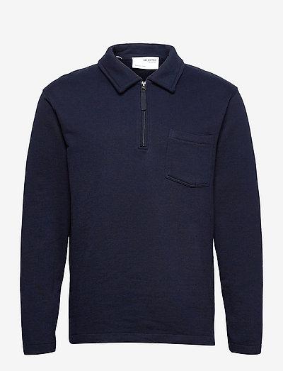 SLHRELAXREID HALF ZIP SWEAT W - kläder - navy blazer