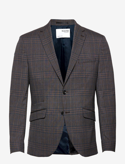SLHSLIM-TIMELOGAN GREY MULCHK BLZ B - blazers à boutonnage simple - grey