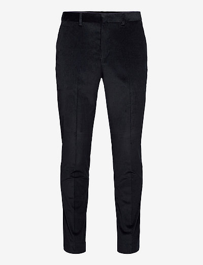 SLHSLIM-MYLOCORD DARK NAVY TRS - pantalons habillés - navy blazer