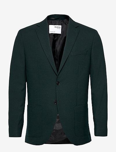 SLHSLIM-JACKBILL DARK GREEN BLZ B - blazers à boutonnage simple - dark green