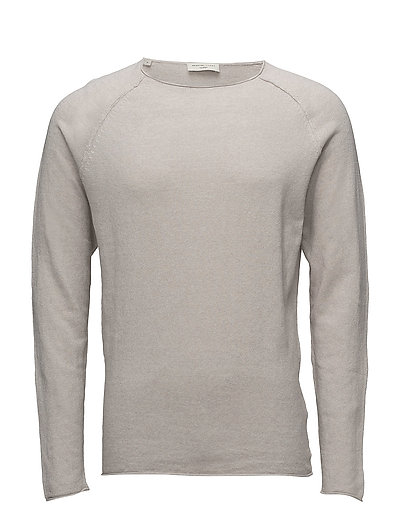 SHNCLASH LINEN CREW NECK - DOVE