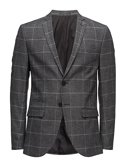 SHDONE-MYLODRAKE2 GREY CHECK BLAZER STS - MEDIUM GREY MELANGE