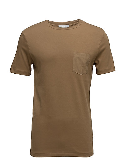 SHDFIN POCKET SS O-NECK TEE - OTTER