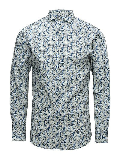 SHDONESEL-RIO SHIRT LS AOP - WHITE