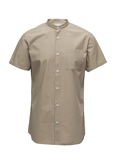 SHDTWOCRISP-CHINA SHIRT SS SOLID - CROCKERY