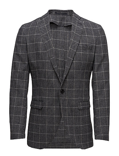 SHDONE-MILANO NAVY/WHITE CHECK BLAZER - DARK NAVY