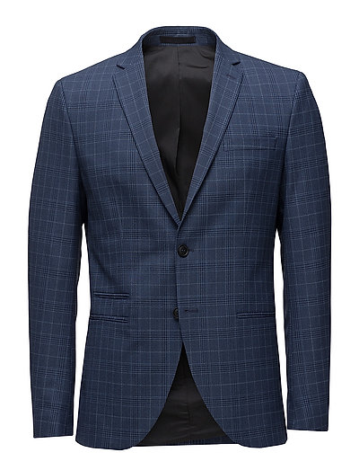 SHDONE-MICH NAVY CHECK BLAZER - DARK NAVY