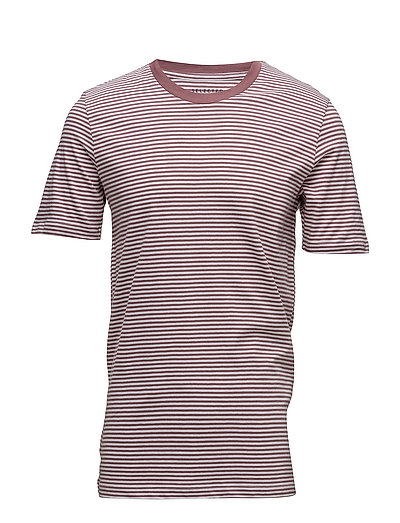 SLHTHEPERFECT STRIPE SS O-NECK TEE B - BRIGHT WHITE