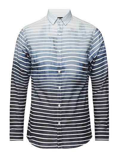 SHXONEMIGUEL SHIRT LS STRIPES - LAKE BLUE