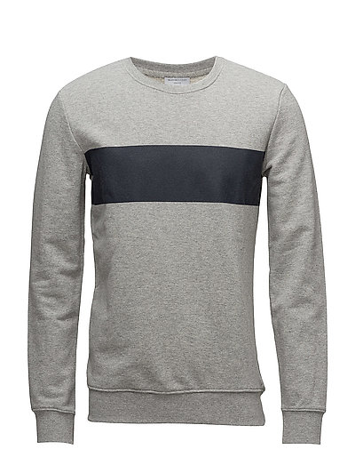 SHXDUTCH CREW NECK SWEAT - LIGHT GREY MELANGE