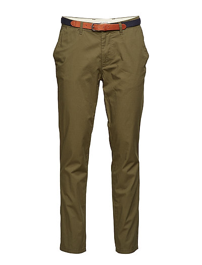 SLHSLIM-YARD OLIVE NIGHT PANTS W NOOS - OLIVE NIGHT
