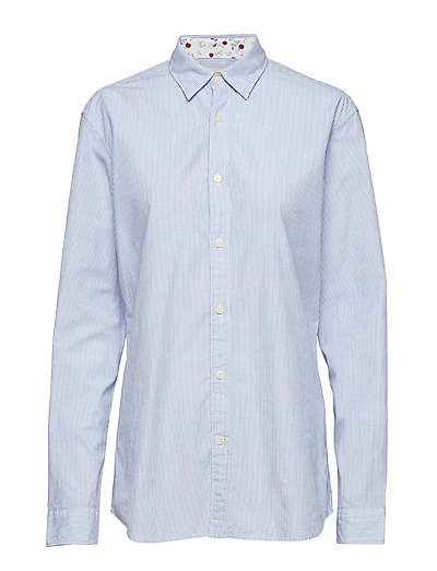 SHHONELOUIS SHIRT LS TRIM - LIGHT BLUE