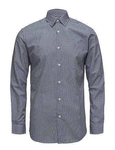 SLHSLIMPEN-GINGHAM SHIRT LS CHECK B NOOS - DARK BLUE
