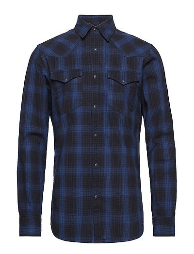 SLHSLIMNED-PAL SHIRT LS CHECK W - DARK BLUE