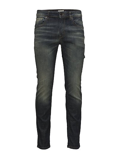 SLHSLIM-LEON 6131 D.BLUE ST JEANS W NOOS - DARK BLUE DENIM