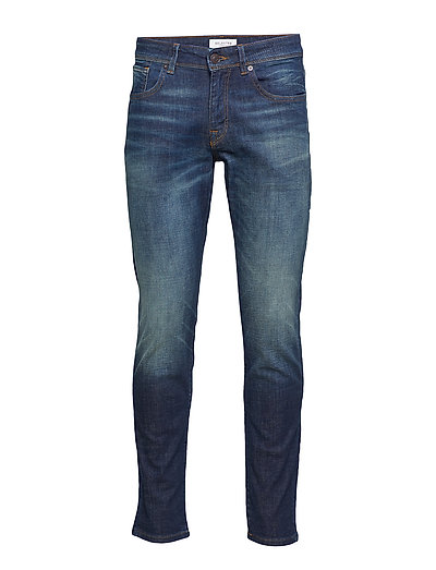 SLHSTRAIGHT-SCOTT  6131 D.BLU ST W NOOS - DARK BLUE DENIM