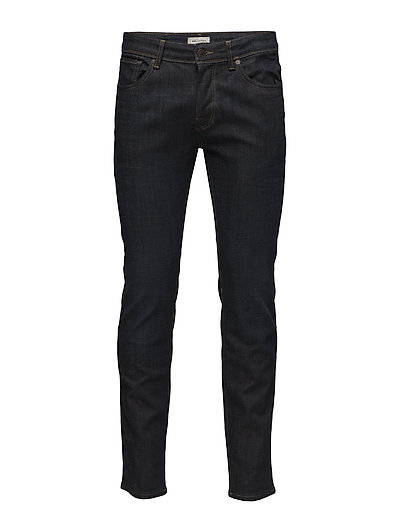 SLHSLIM-LEON 6133 D.BLUE ST JEANS W NOOS - DARK BLUE DENIM