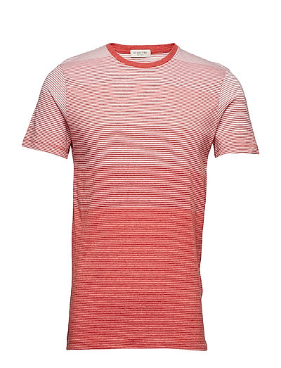 SLHLIAM SS O-NECK TEE W EX - POMPEIAN RED