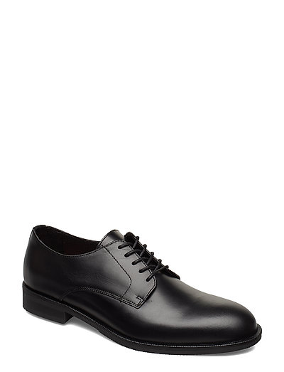 Slhlouis Leather Derby Shoe B Noos Shoes Business Laced Shoes Schwarz SELECTED HOMME | SELECTED SALE