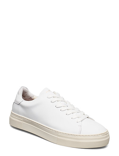 Slhdavid Chunky Leather Trainer W Niedrige Sneaker Weiß SELECTED HOMME