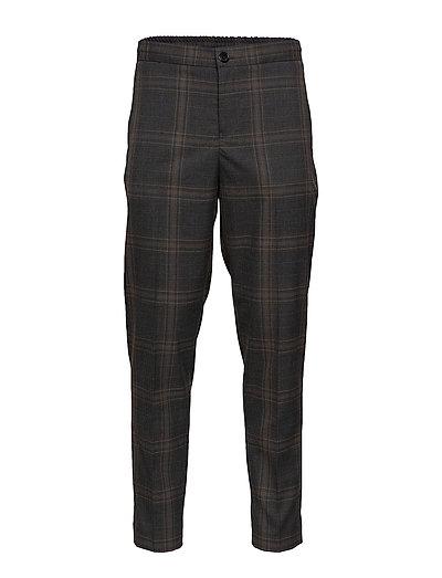 Slhslimtapered-Code Check Trouser Anzughosen Businesshosen Grau SELECTED HOMME