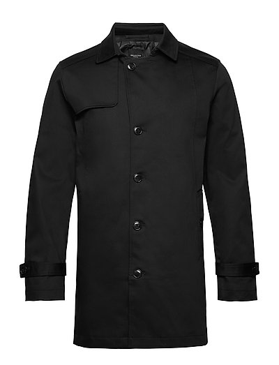 Slhtimeless Coat B Dünner Mantel Schwarz SELECTED HOMME