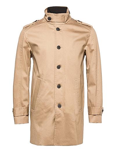 Slhnoah Cotton Coat B Trenchcoat Mantel Braun SELECTED HOMME