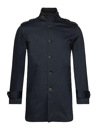 Slhnoah Cotton Coat B Trenchcoat Mantel Blau SELECTED HOMME
