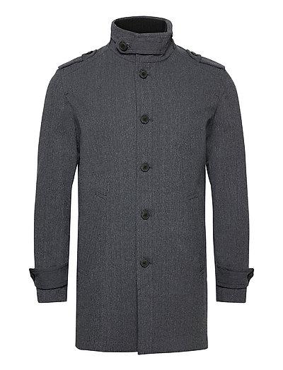 Slhnoah Cotton Coat B Trenchcoat Mantel Grau SELECTED HOMME   SELECTED SALE
