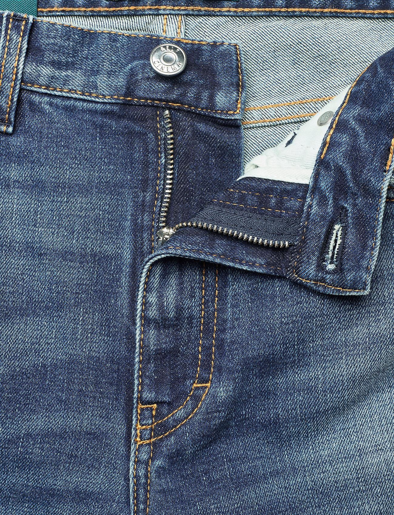 Self Cinema - Womens Slim Straight Jean Embroidered - straight regular - mid blue vintage - 3