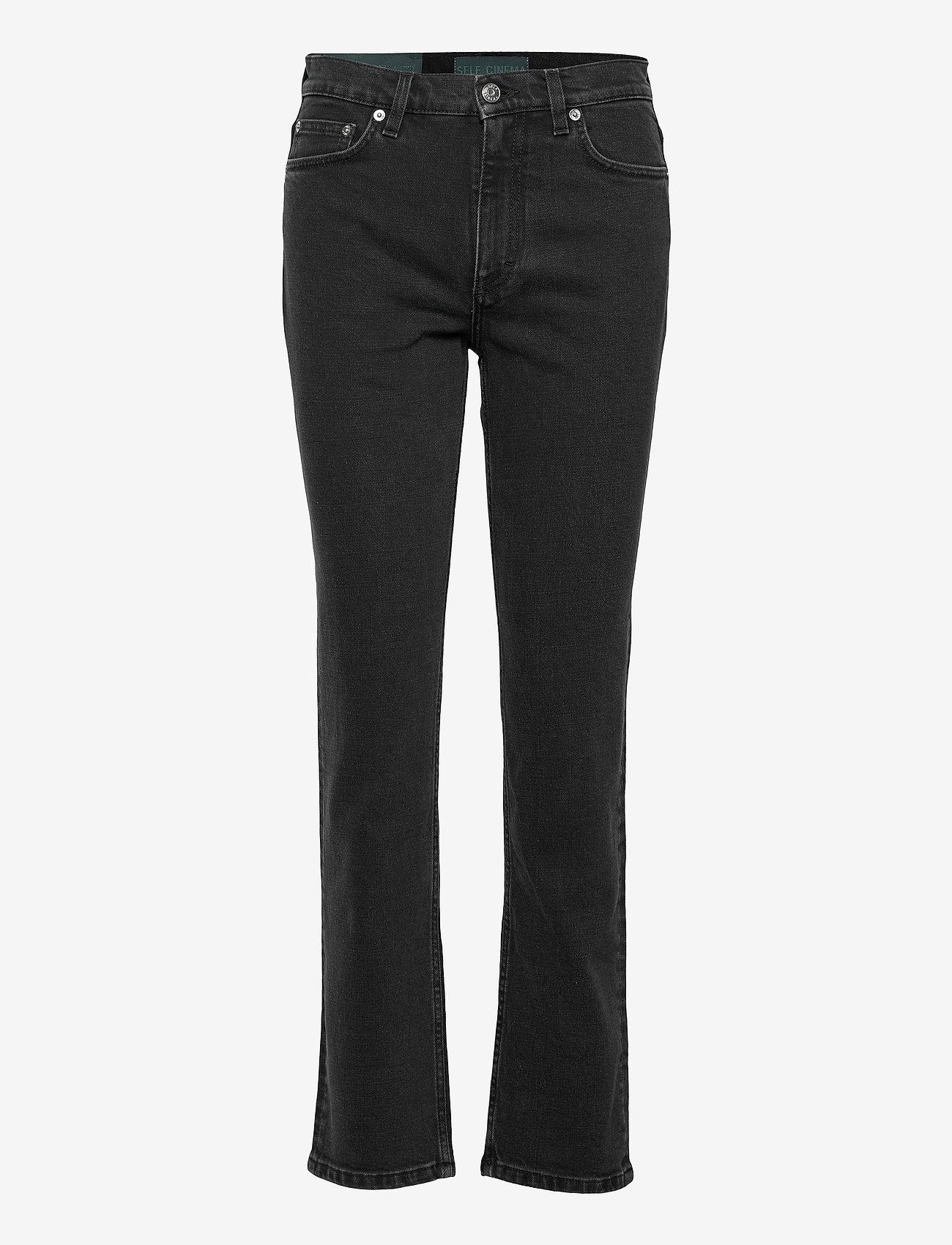 Self Cinema - Womens Slim Straight Jean - slim jeans - washed black - 0