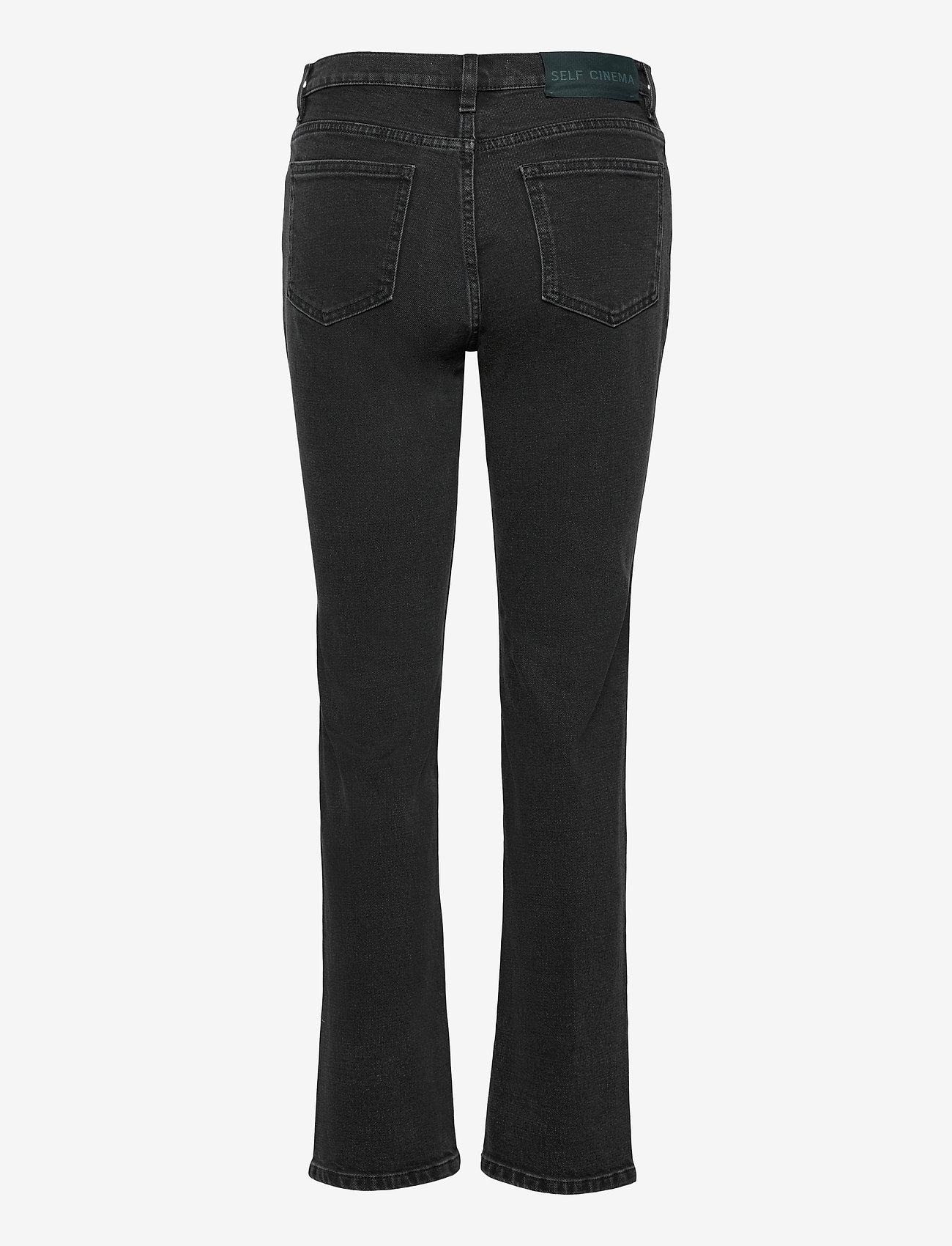 Self Cinema - Womens Slim Straight Jean - slim jeans - washed black - 1