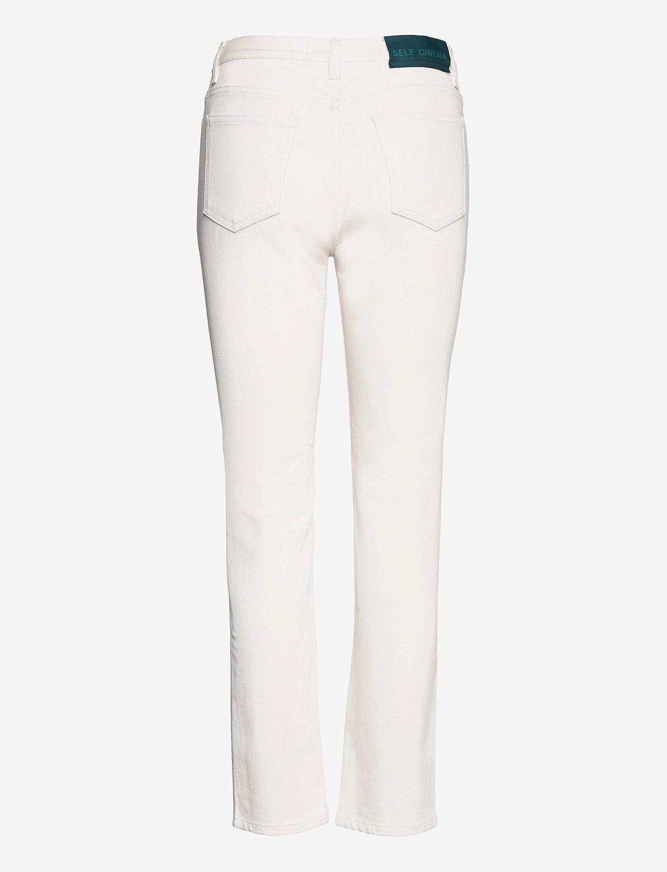 Self Cinema - Womens Slim Straight Jean - slim jeans - white - 1