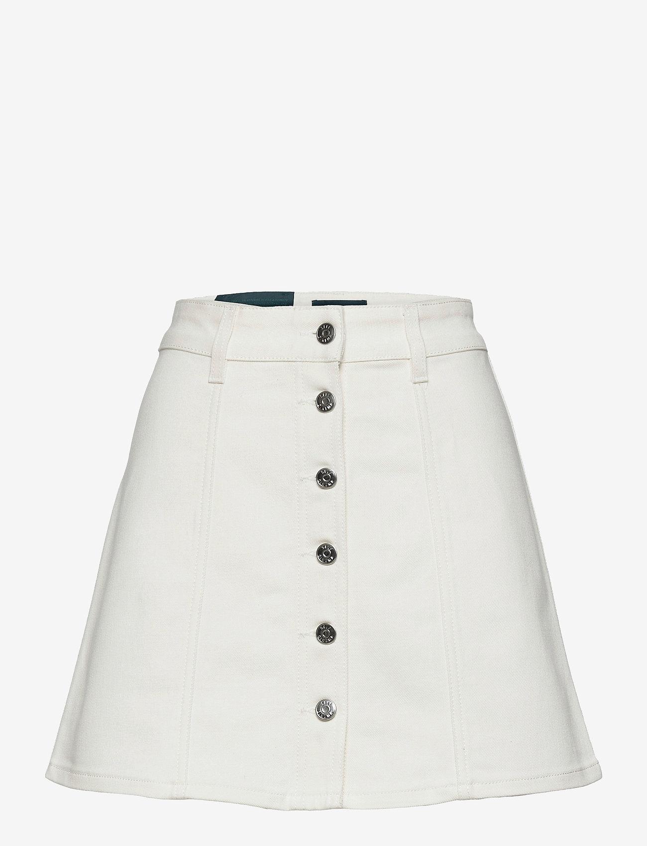 Self Cinema - Womens Denim Skirt - denim skirts - white - 0