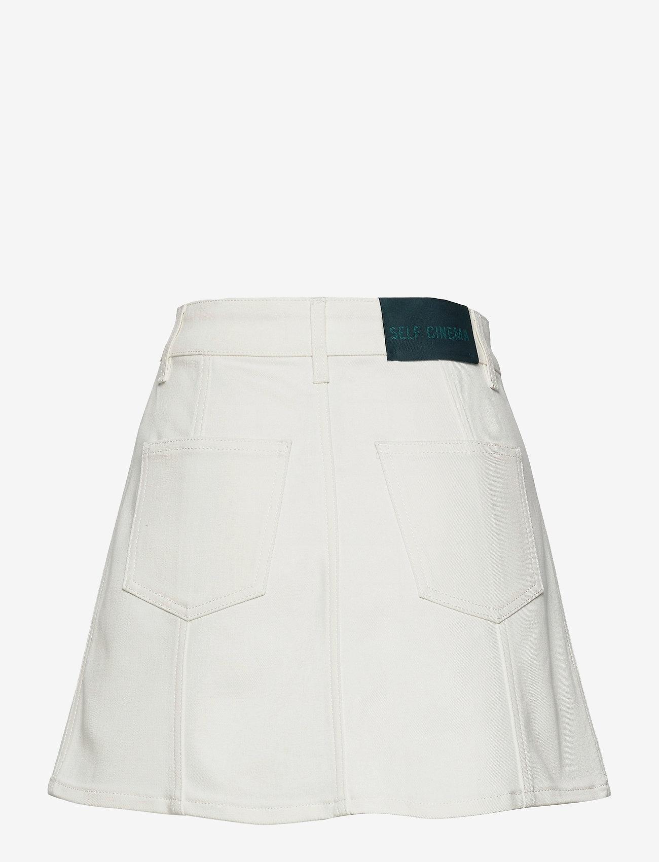 Self Cinema - Womens Denim Skirt - denim skirts - white - 1