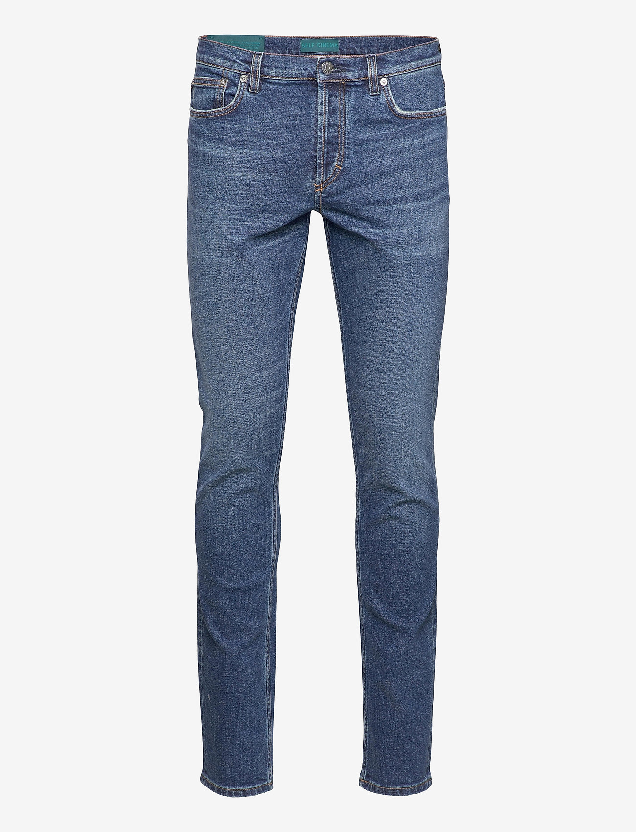 Self Cinema - Mens Slim Jean - slim jeans - mid blue vintage - 0