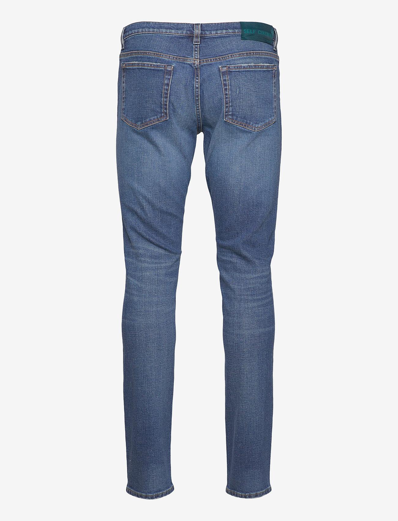 Self Cinema - Mens Slim Jean - slim jeans - mid blue vintage - 1