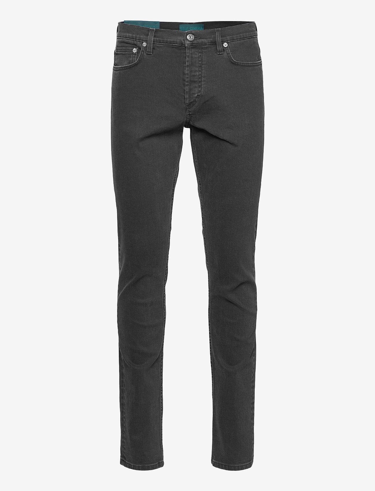 Self Cinema - Mens Slim Jean - slim jeans - washed black - 0