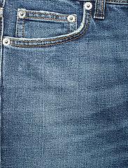 Self Cinema - Womens Slim Straight Jean Embroidered - straight regular - mid blue vintage - 2