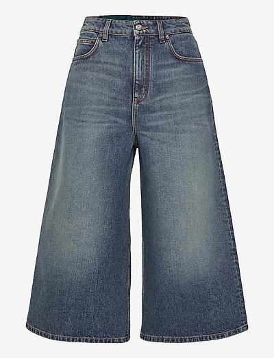 Womens  Coulotte Jean - hosen mit weitem bein - mid blue vintage