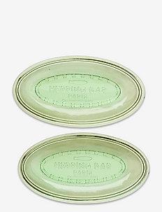 DISH OVAL FLAT - serveringsfat - green