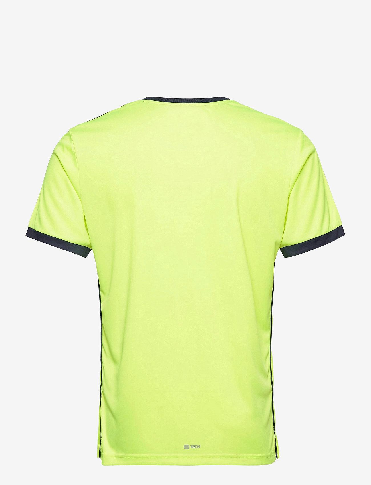 Sergio Tacchini - CLUB TECH T-SHIRT - t-shirts - yellowflou/black - 1