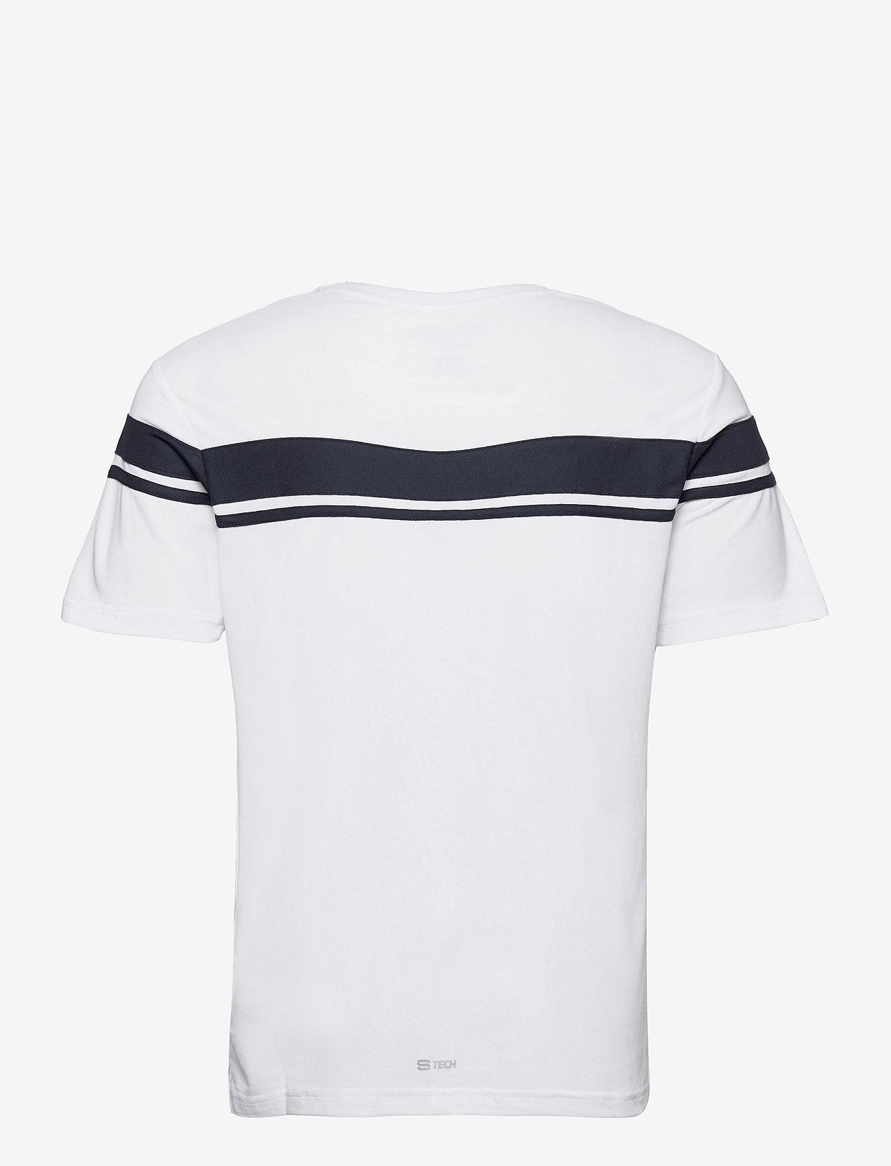 Sergio Tacchini - YOUNG LINE PRO T-SHIRT - t-shirts - white/navy - 1
