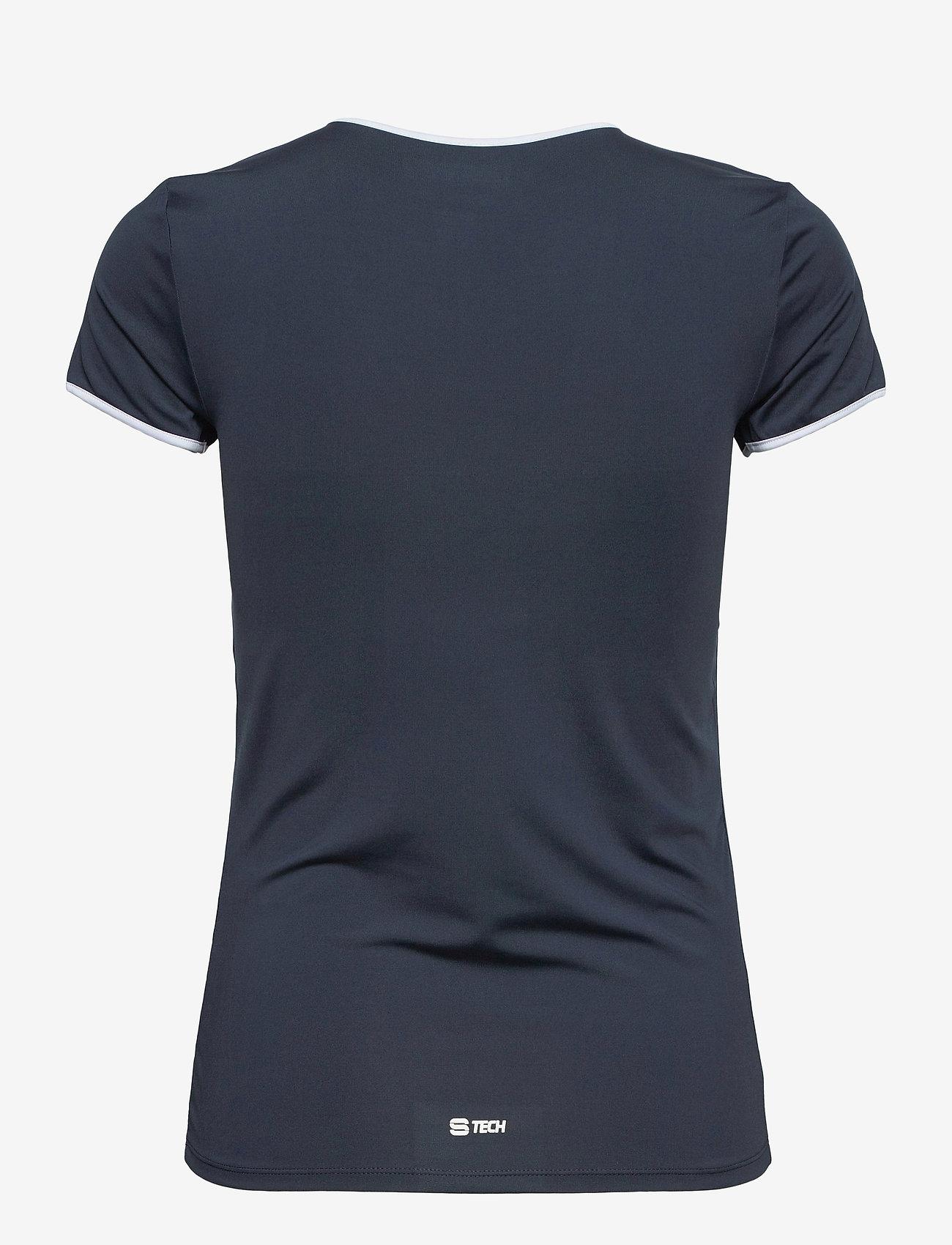 Sergio Tacchini - EVA T-SHIRT - t-shirts - navy/white - 1