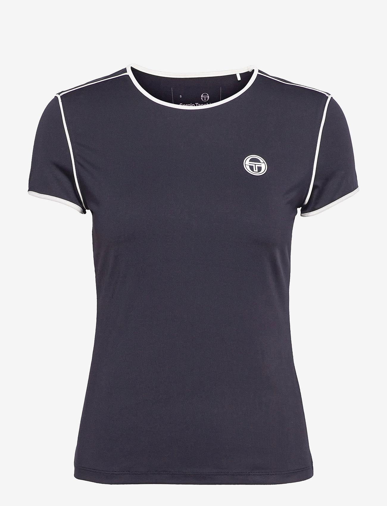 Sergio Tacchini - TCP TSHIRT SS WOMAN - t-shirts - 205 night sky/blanc de blanc - 0